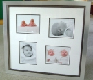 Bespoke framing for baby photos